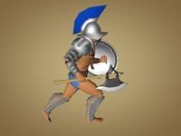 gladiator gaul 3d model