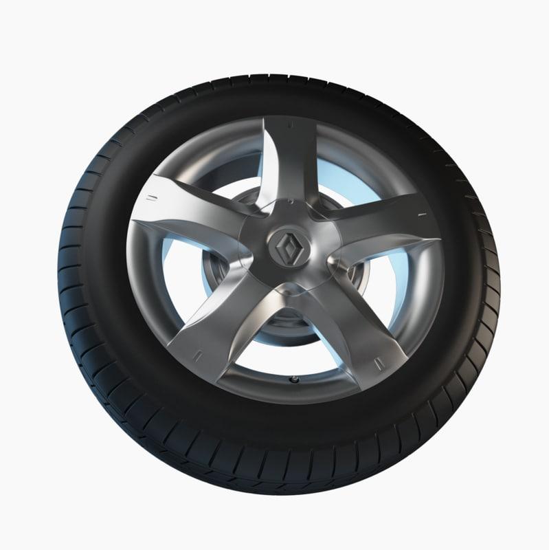 3d model renault car tire