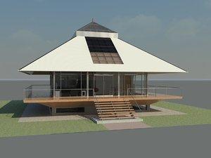 3d chalet house design revit