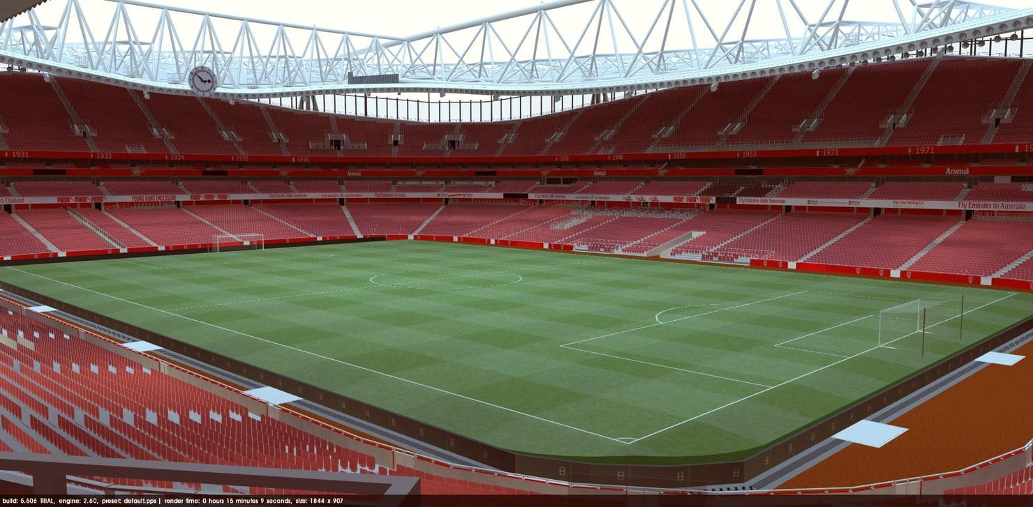 3d emirates stadium