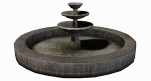 fountain old 3d max