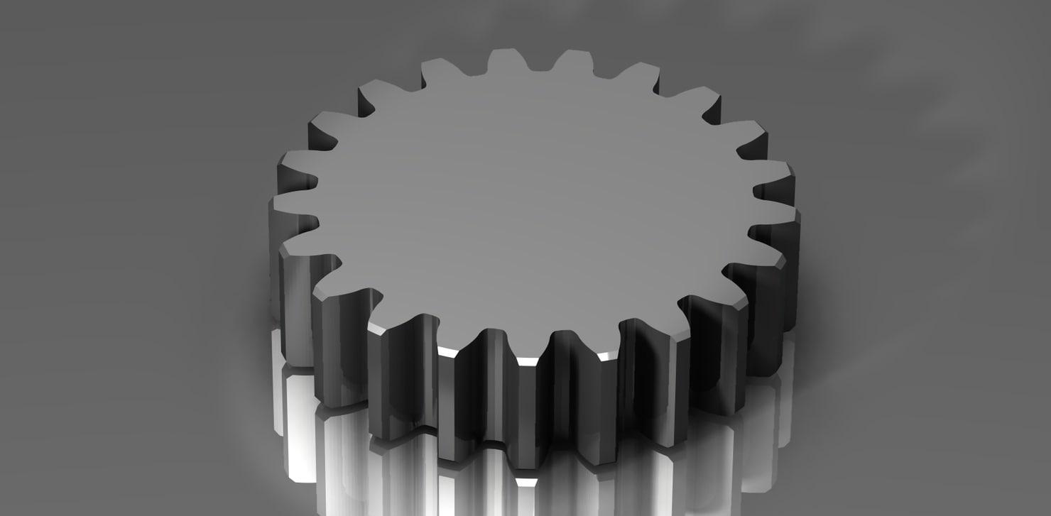 3d spur gear 48 48p model