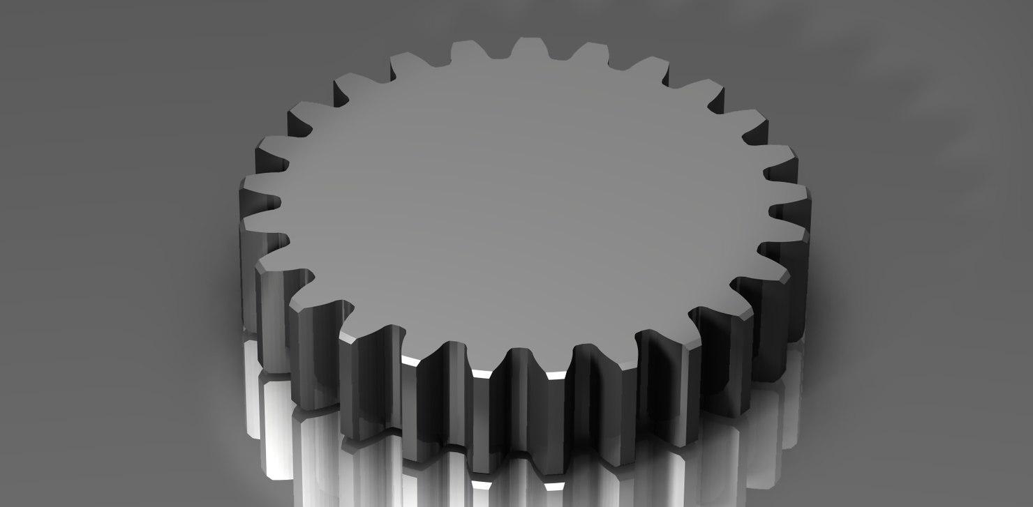 3d spur gear 48 48p