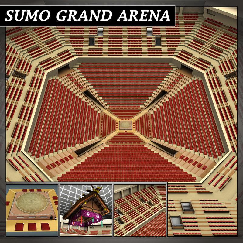sumo arena 3d obj