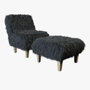 3d model - fur