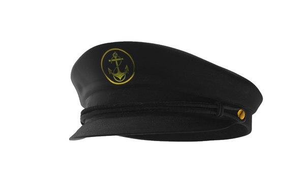 3d model captain hat