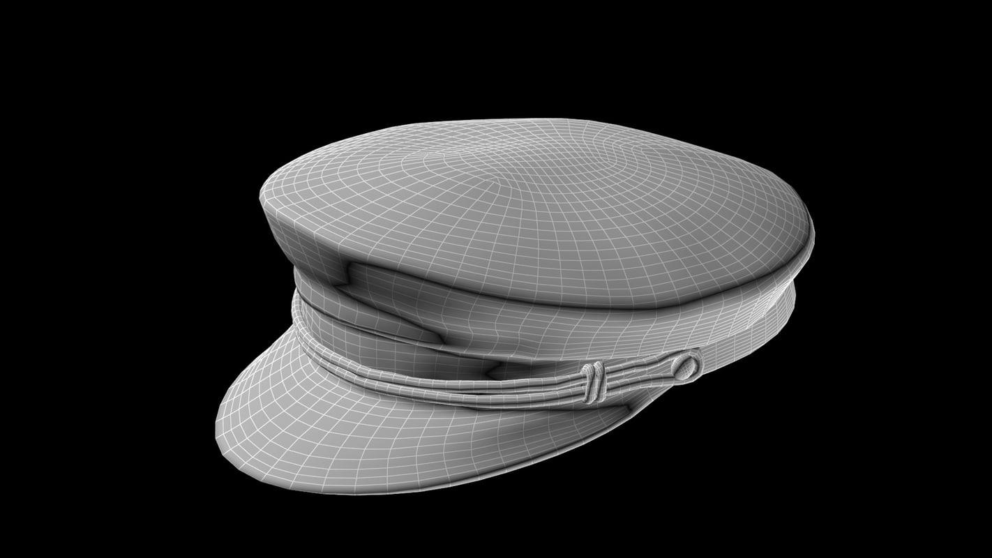 103dcaf9be3bd 3d model captain hat