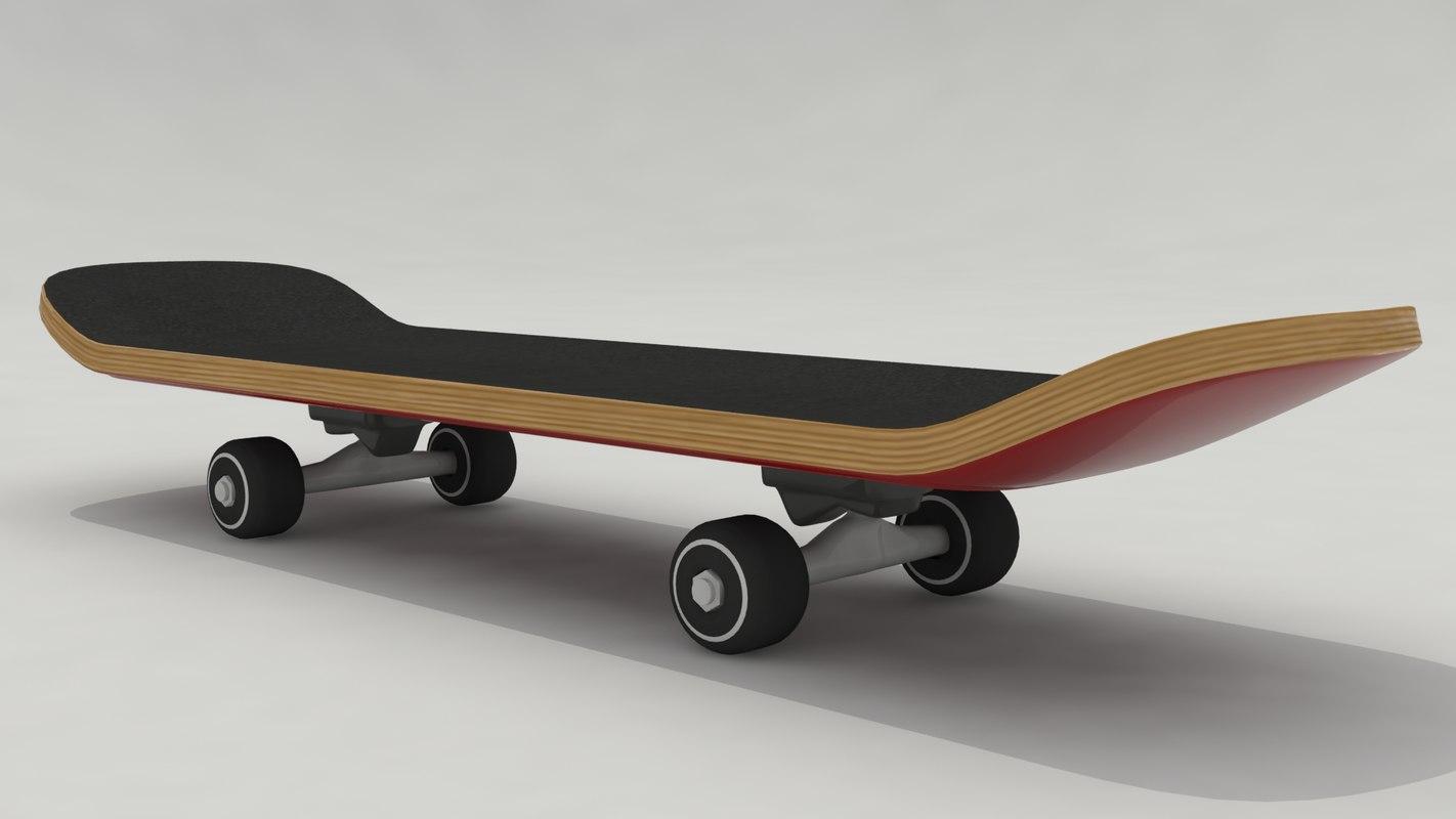 3d model skate board