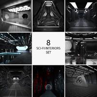 8 sci fi interiors 3d max