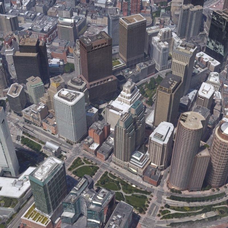 realistic city scenes 3d model