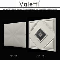 3d panel leather valetti walls model