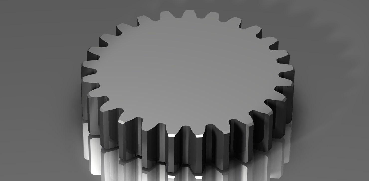 spur gear 48 48p 3d 3ds