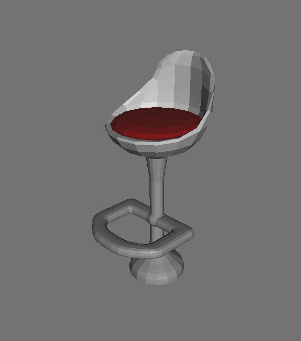 3ds stool furniture seats