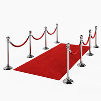 red carpet stanchions 3d max