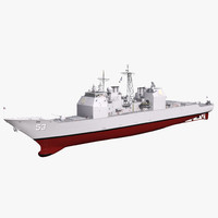 ticonderoga class cruiser mobile 3d 3ds