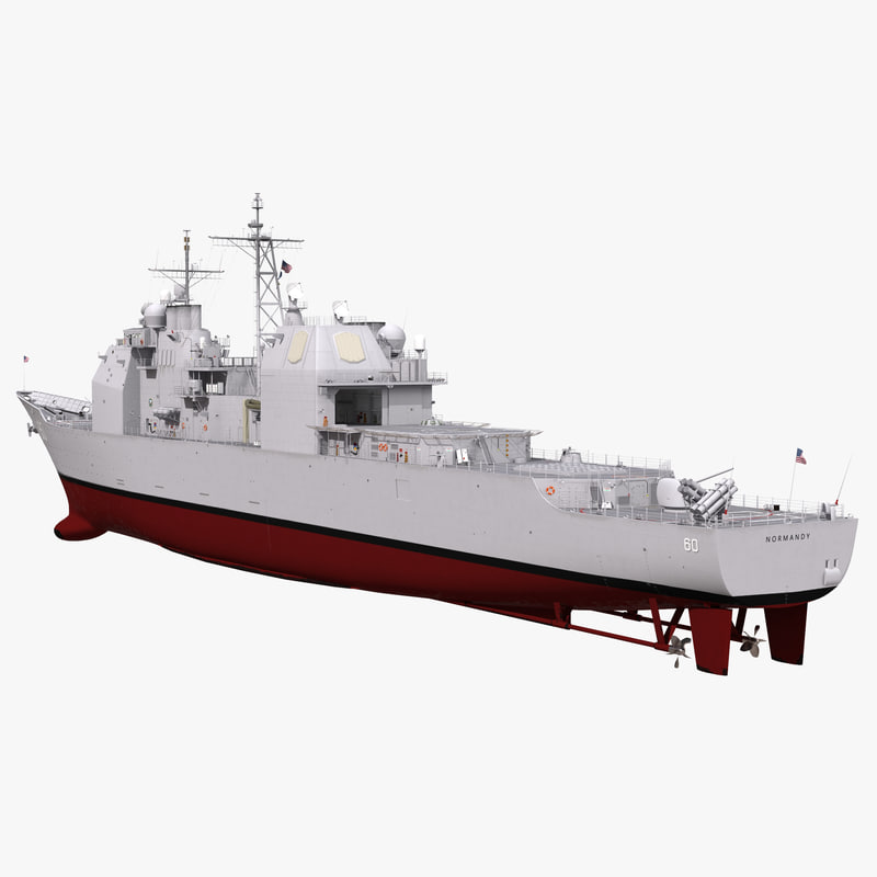 ticonderoga class cruiser normandy 3d fbx
