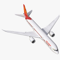 3d model of boeing 787 9 air india