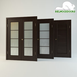 belwooddoors modern suite doors 3d model