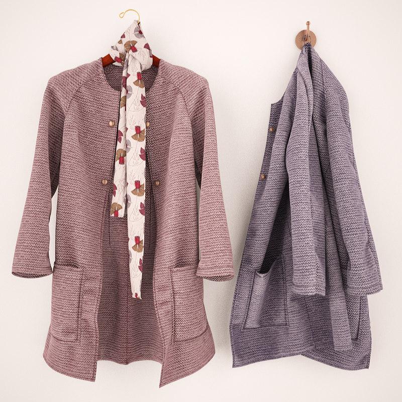 jacket hanger hook 3d model