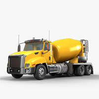 3d concrete mixer truck model