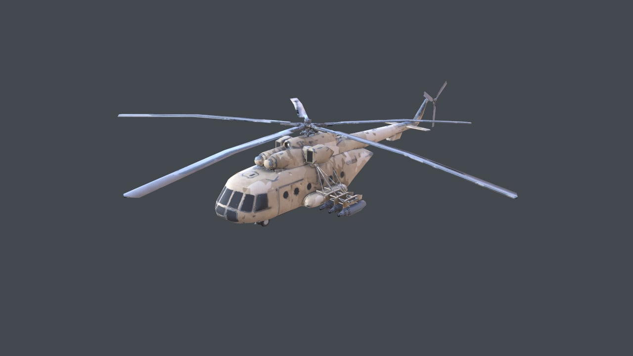 helicopter mi-171 3d model