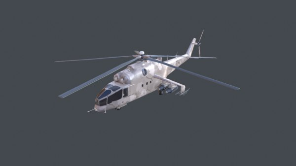 3d helicopter mi-24a