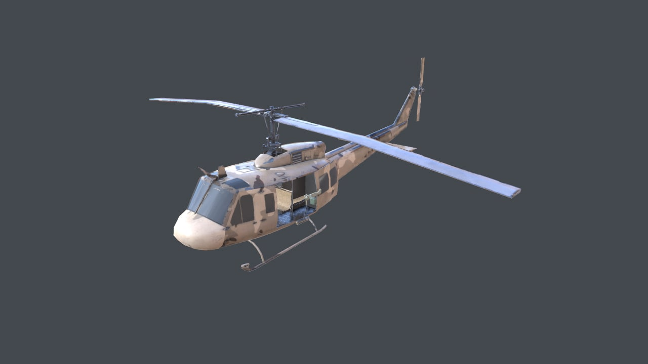 3d helicopter uh-1h