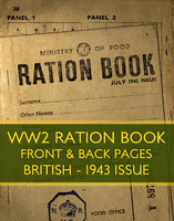 WWII Ration Book (1943 issue)