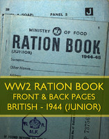 WWII Ration Book (1944 Junior)
