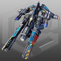 scifi heavy fighter x7 max