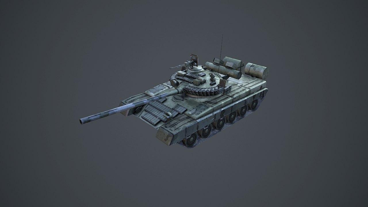t-80 tank 3d fbx