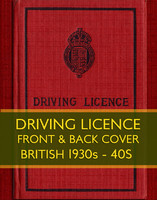 Drivers Licence (1930s - 40s)