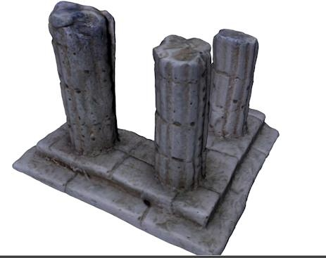 3ds ancient column ruin