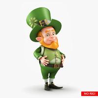 leprechaun character 3d ma