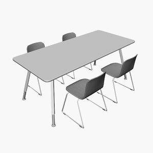 3d obj chairs conference table