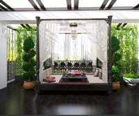 3d model balcony oriental style