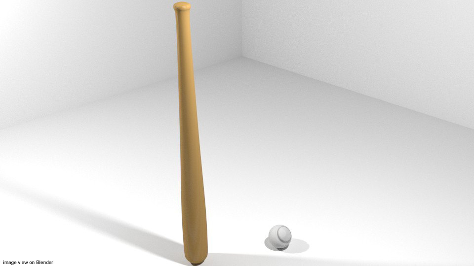 3d model baseball ball equipment