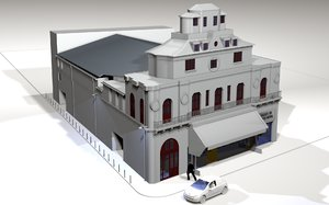 bataclan theatre 3d model