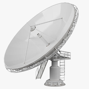 3d model big dish antenna