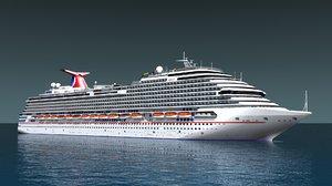 carnival cruise ship 3d model