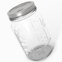 widemouth mason jar 3d model