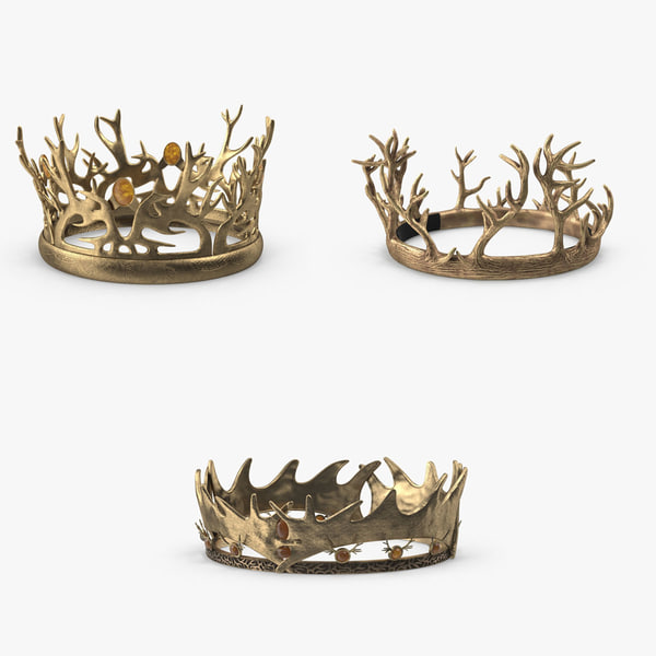 3d model thrones crown pack