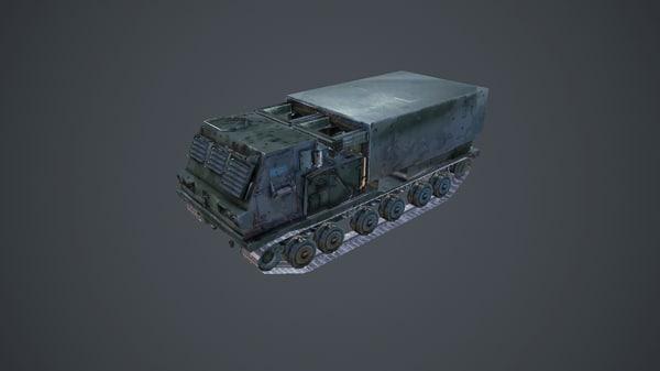 3d model mlrs m-270 military tank