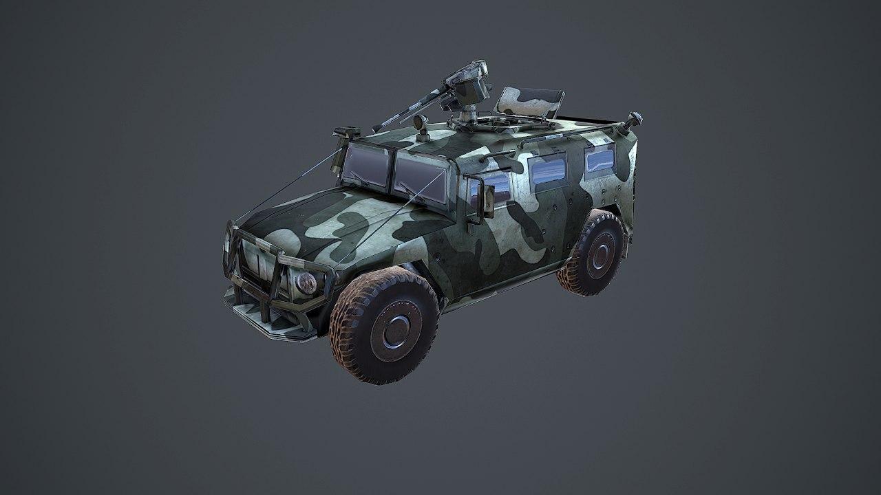 3d tiger gaz-2975 model