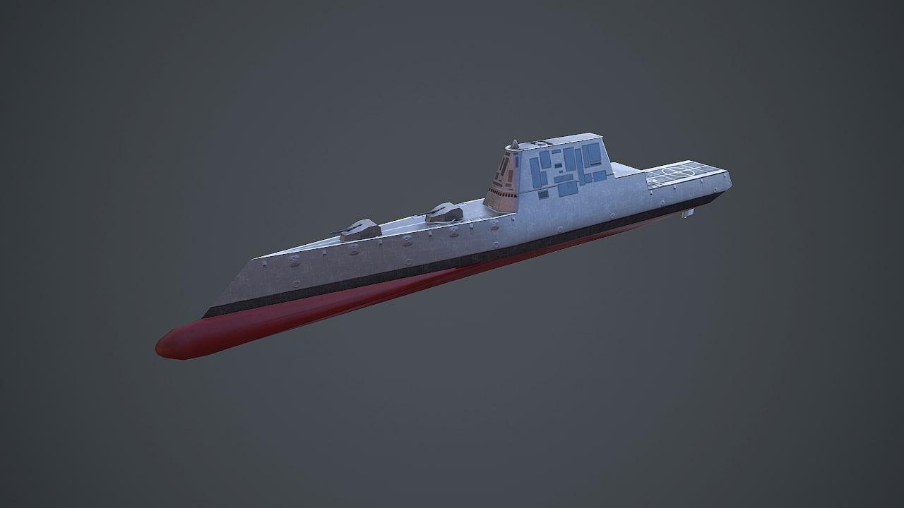 ship uss zumwalt 3d x