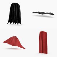 superhero capes 3d model