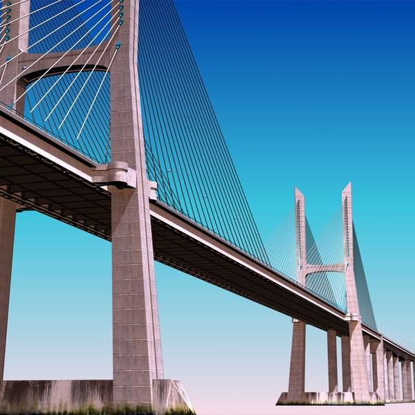 da gama bridge 3d model