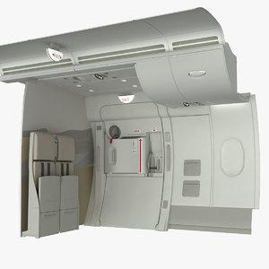 3d emergency exit crew seat