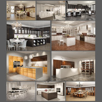 10 kitchens interiors 3d max
