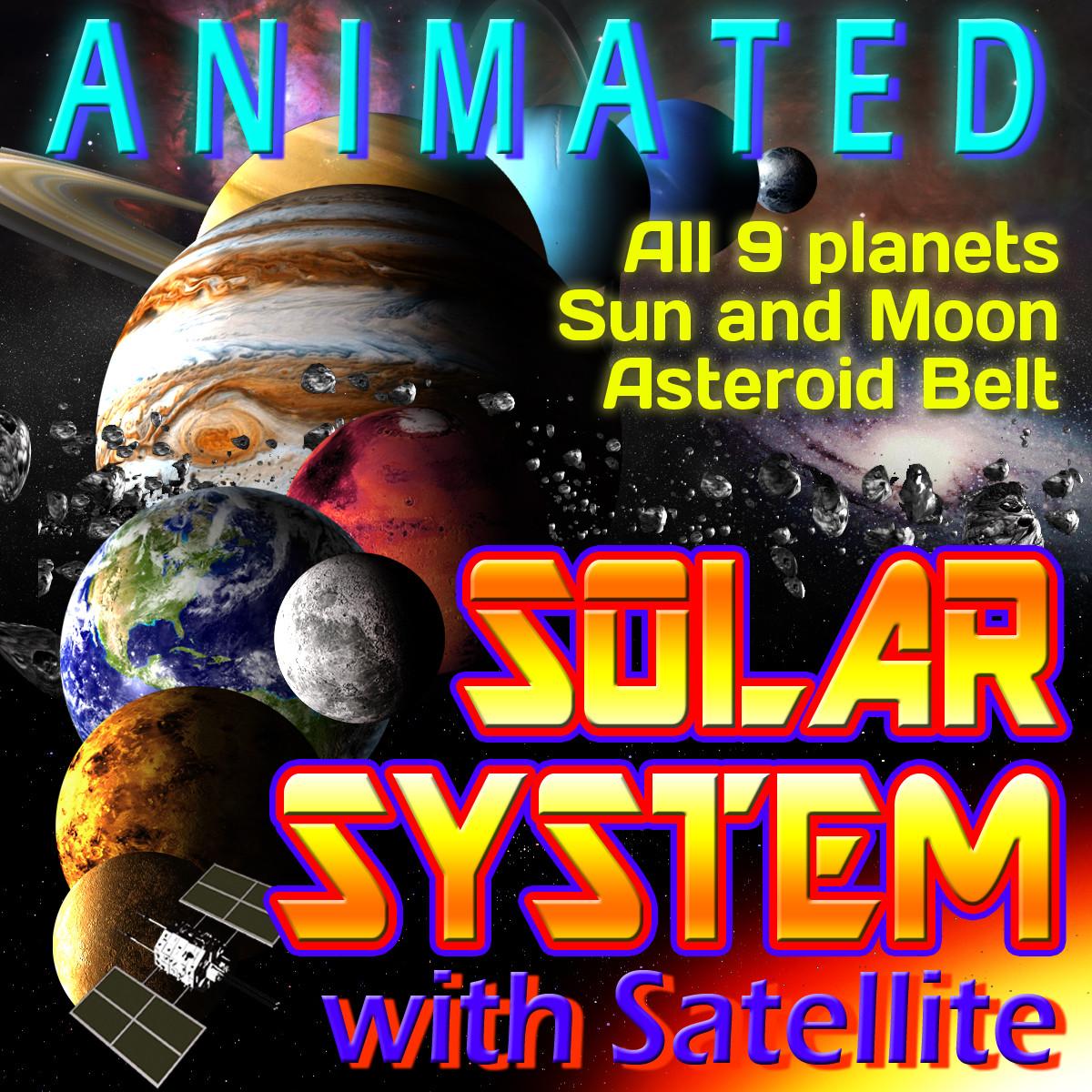 solar satellite 3d model